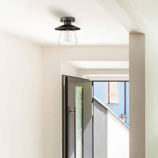 Carbon Loft Keyvani 1 Light Oil Rubbed Bronze Semi Flush Mount Ceiling Light Overstock 18704673