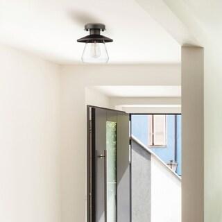 Nate 1-Light Oil Rubbed Bronze Semi-Flush Mount Ceiling Light