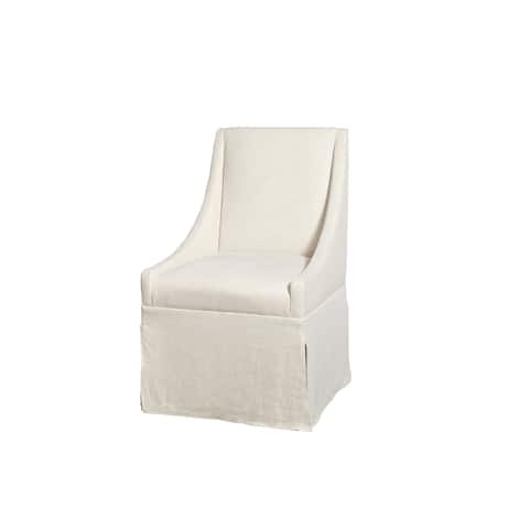 Modern Ivory Townsend Caster Dining Chair