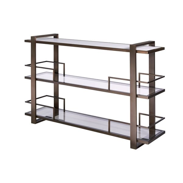 Modern Bronze 3-shelf Bar Console Table