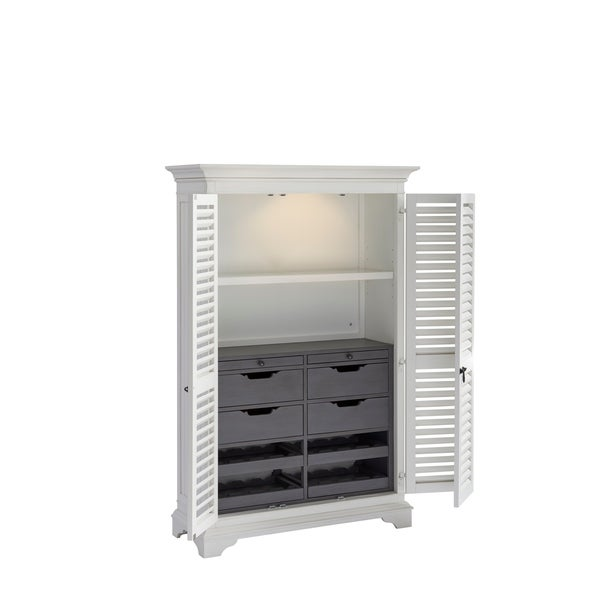 Paula Deen Bungalow Oleander White The Liquor Locker Bar Cabinet