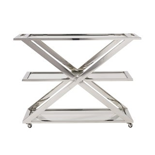 Modern Stainless Steel 3-self Draper Bar Cart