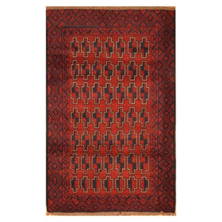 Handmade Herat Oriental Afghan Hand-knotted Tribal Balouchi Wool Rug (3' x 5')|https://ak1.ostkcdn.com/images/products/18704856/P24794273.jpg?impolicy=medium