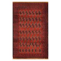 Handmade Herat Oriental Afghan Hand-knotted Tribal Balouchi Wool Rug (3' x 5')