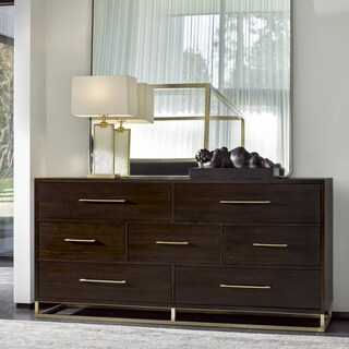 Modern Mahogany 7-drawer Bancroft Dresser