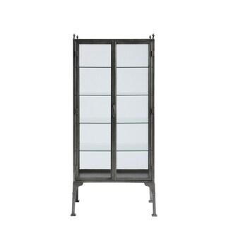 Universal Furniture Paula Deen Bungalow Grey Birch 5-shelf Curiosities Cabinet