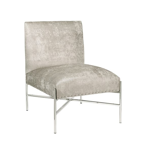 Pleasing Riley Metal Upholstered Accent Chair Theyellowbook Wood Chair Design Ideas Theyellowbookinfo