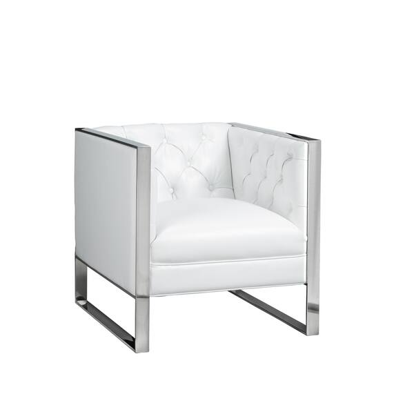 Terrific Blossom Tufted Velvet Or Faux Leather Accent Chair Machost Co Dining Chair Design Ideas Machostcouk