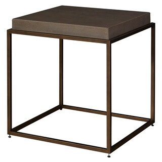 Universal Furniture Bennett Modern Bronze and Portobello Metal and Wood Square End Table