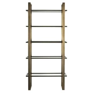 Modern Bronze Metal 5-shelf Etagere