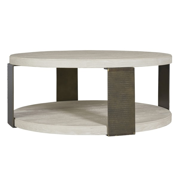 Florentine Marble And Brass Round Cocktail Coffee Table At: Shop Modern Bronze And Quartz Round Wilder Cocktail Table
