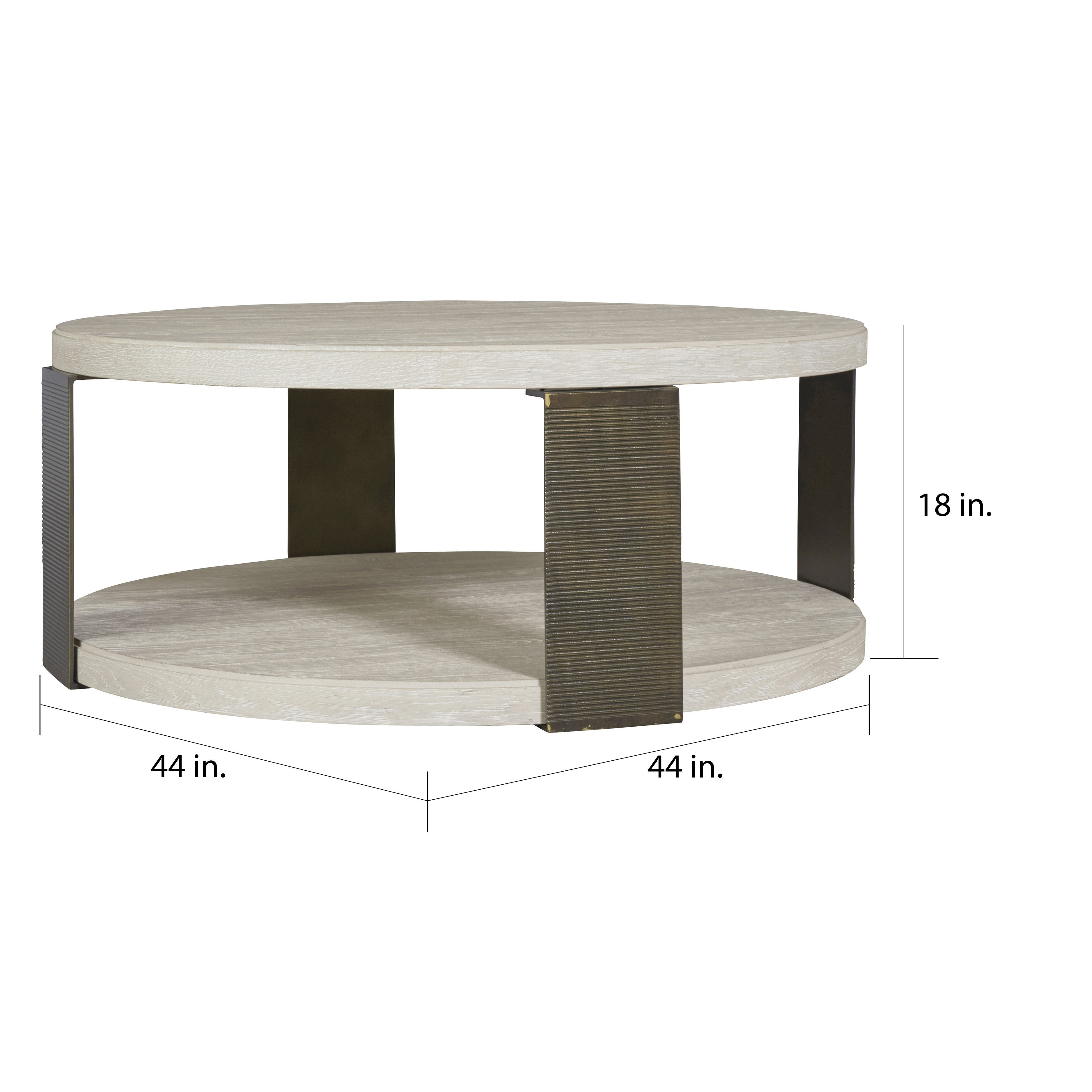 Picture of: Carbon Loft Gene Modern Bronze And Quartz Round Cocktail Table Overstock 18705047
