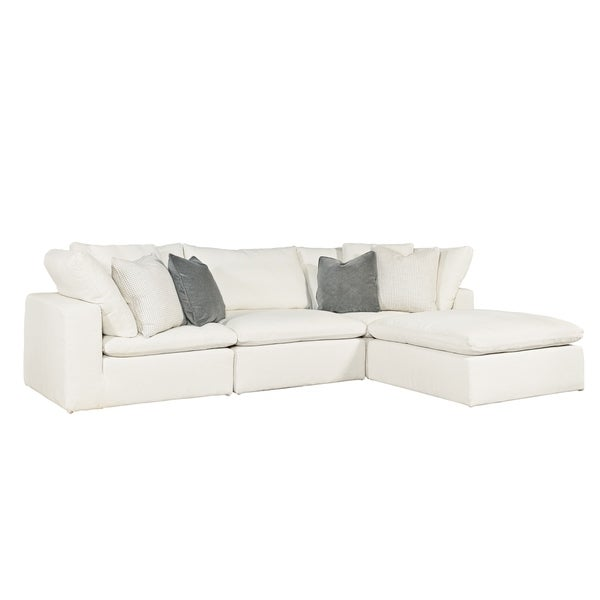 Curated Ivory 4 Piece Palmer Sectional Sofa