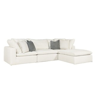 Curated Ivory 4-piece Palmer Sectional Sofa