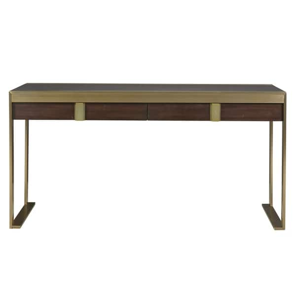 Shop Modern Hayworth Mahogany 2-drawer Office Desk - Free ...