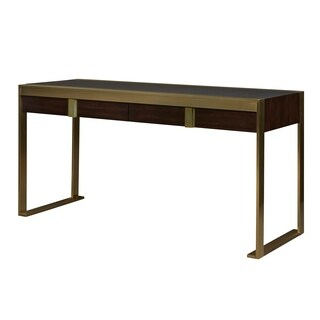 Modern Hayworth Mahogany 2-drawer Office Desk