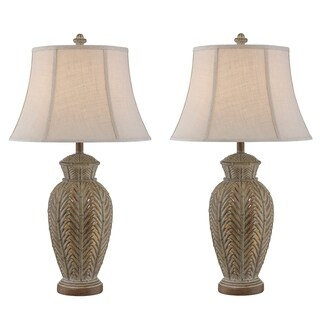 "Seahaven Sandstone Wicker Night Light Table Lamp 32.5"" high"