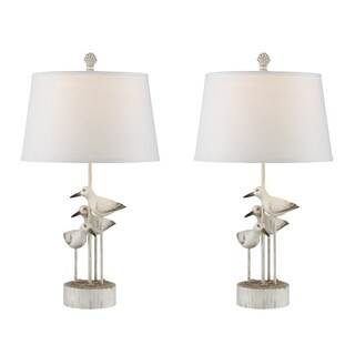 "Seahaven Trio Seabirds Table Lamp 30"" high"