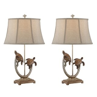 """Seahaven Twin Turtle Branch Table Lamp 31"""" high"""