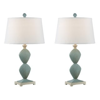 """Seahaven Double Clam Shell Table Lamp 30"""" high"""
