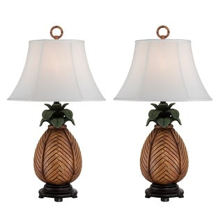 "Seahaven Pineapple Night Light Table Lamp 31.5"" high"