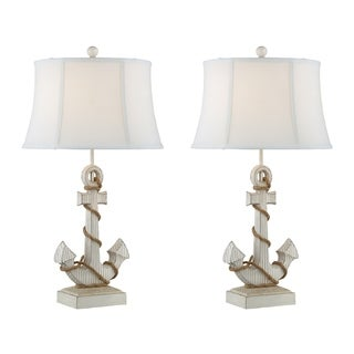 """Seahaven Anchor with Rope Table Lamp 31"""" high"""