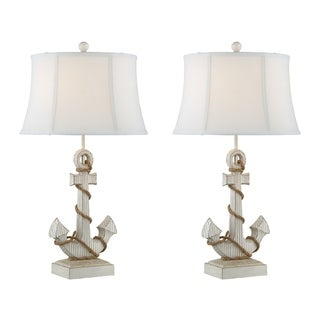 "Seahaven Anchor with Rope Table Lamp 31"" high"
