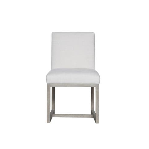 Modern White and Flint Carter Side Chair