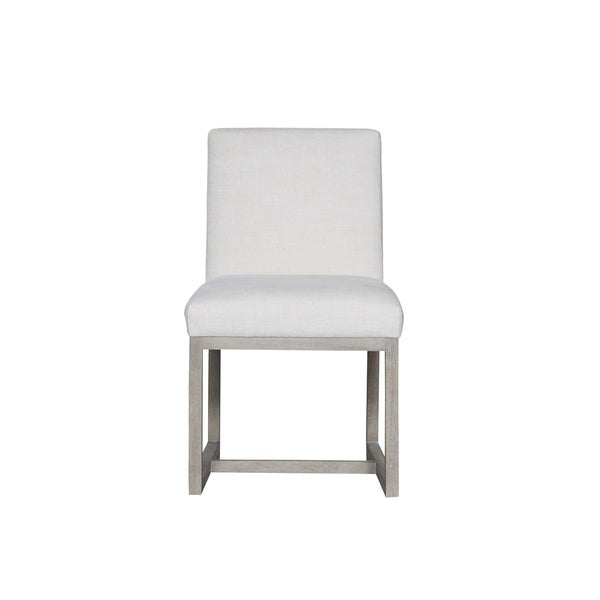 Modern White And Flint Carter Side Chair