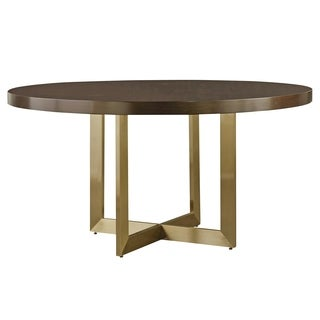 Modern Mahogany Round Gibson Dining Table