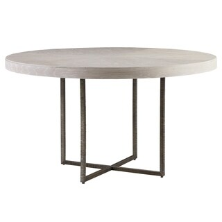 Universal Furniture Robards Wood and Metal Quartz and Bronze Finish Round Modern Dining Table