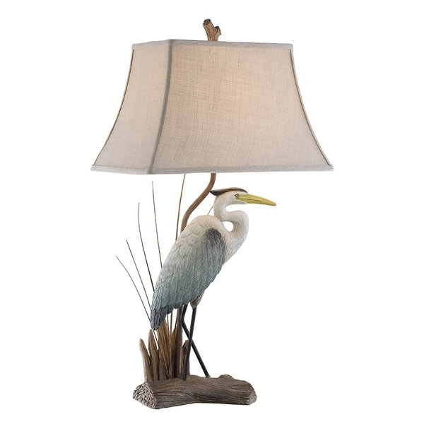 """Seahaven Nature Themed Heron Table Lamp with Ting 33"""" high"""