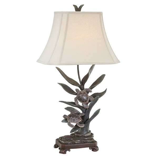 """Seahaven Twin Turtle Table Lamp 34"""" high"""