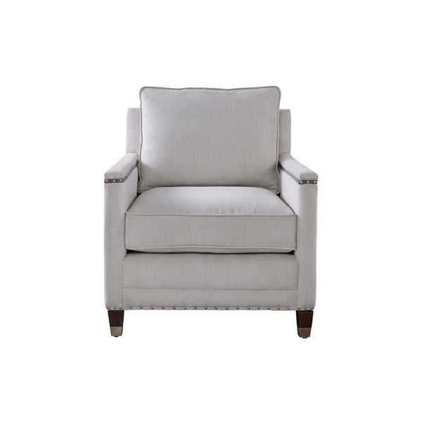 Curated Grey Nailhead Merrill Chair  sc 1 st  Overstock.com & Shop Curated Grey Nailhead Merrill Chair - Free Shipping Today ...