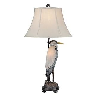 Seahaven Heron Grey Resin 33 Inch High Night Light Table Lamp