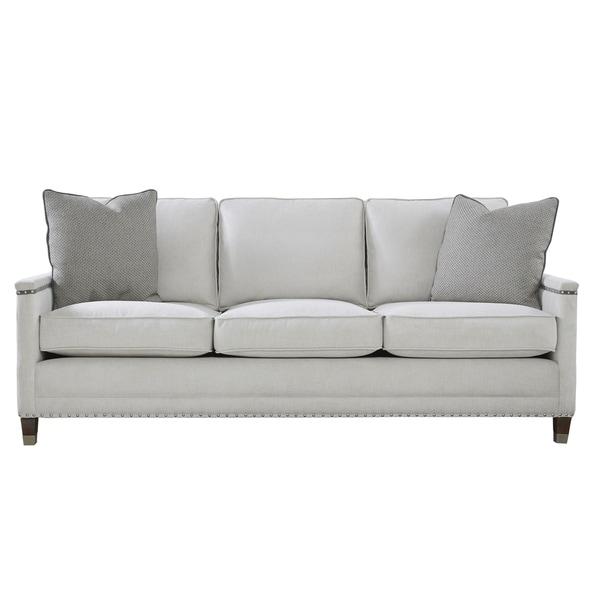 Modern Nailhead Sofa: Shop Modern Grey Nailhead Merrill Sofa