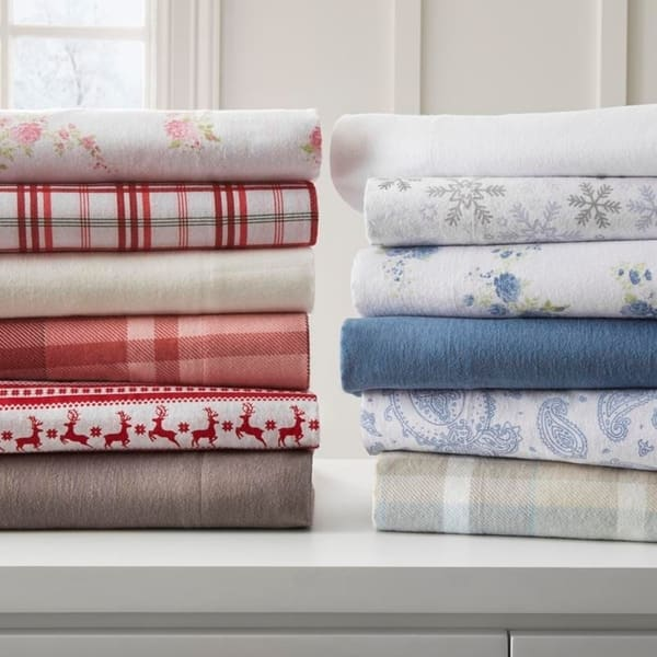 Becky Cameron Premium Ultra Cozy 4 Piece Flannel Bed Sheet Set On Sale Overstock 18705451
