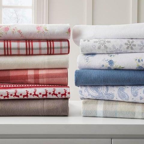Becky Cameron Premium Ultra Cozy 4 Piece Flannel Bed Sheet Set