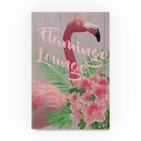 Cora Niele 'Flamingo Lounge' Canvas Art