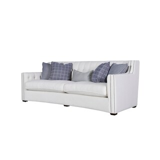 Universal Furniture Curated White Button Tufted Sofa