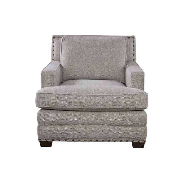 Bon Curated Grey Nailhead Riley Chair