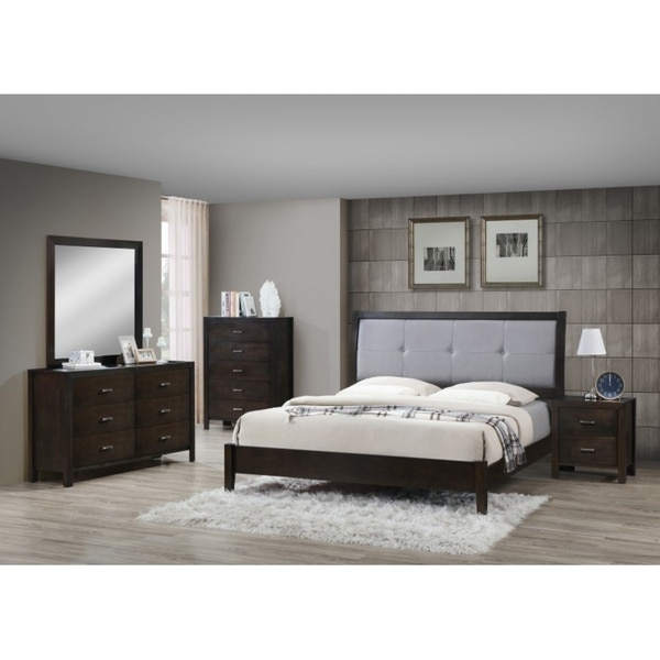 Best Quality Furniture Traditional Cuccino 5 Piece Bedroom Set Free Shipping Today 18705554