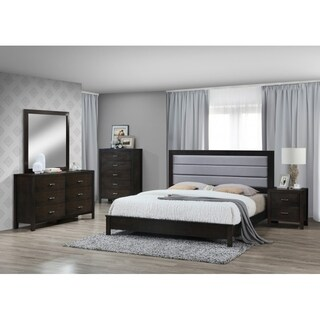 Best Quality Furniture Traditional Cappuccino 4-Piece Bedroom Set