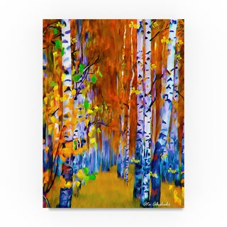 Ata Alishahi 'Autumn' Canvas Art