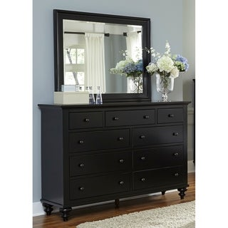 Gracewood Hollow Walker Black Wood/ Veneer Dresser and Mirror