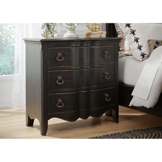 Chesapeake Wire Brushed Antique Black 3-drawer Bachelor Chest
