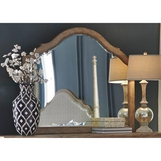 Simply Elegant Wire Brushed Heathered Taupe Mirror