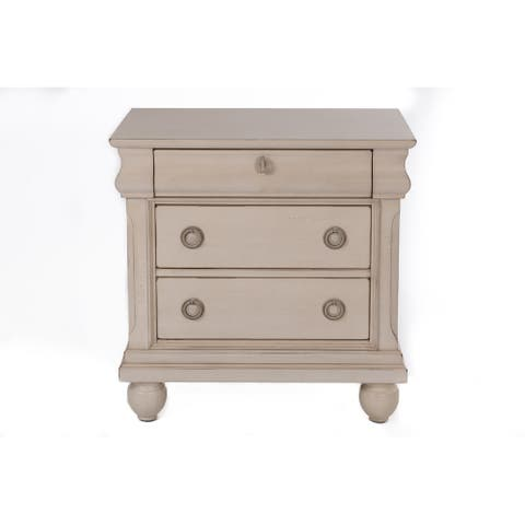Rustic Traditions II Rustic White Night Stand