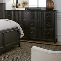 Chesapeake Wire Brushed Antique Black 6-drawer Dresser