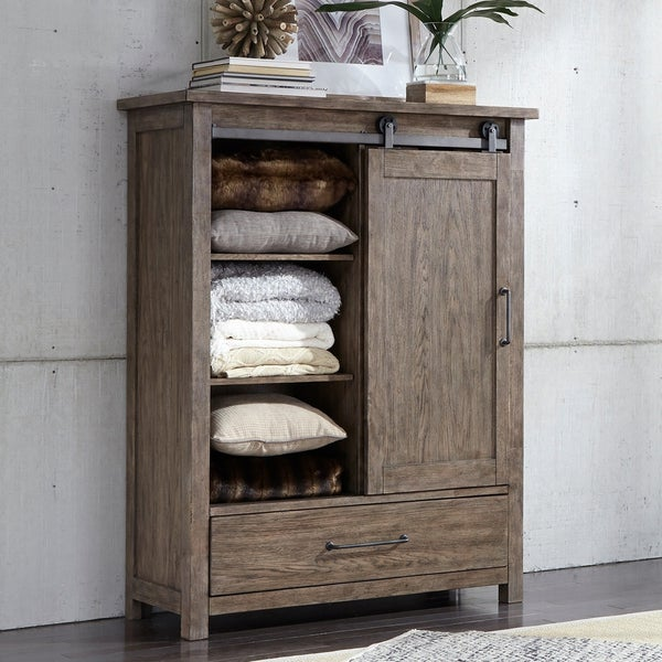 Shop Sonoma Road Weather Beaten Bark Door Chest On Sale
